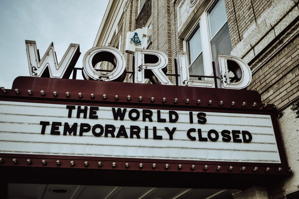 the world is temprrarily closed